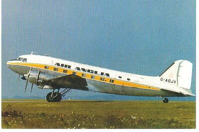 Airliner Postcard Air Anglia DC3 Jersey / Guernsey Airport ?