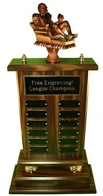 """23"""" 12 YEAR ARMCHAIR QB FANTASY FOOTBALL TROPHY- FREE ENGRAVING! SHIPS IN 1 DAY!"""