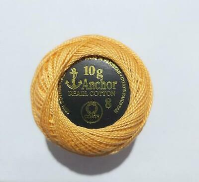 Anchor pearl Cotton Solid Embroidery stitch Thread ball 85m Size 8 Light Green