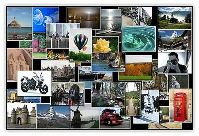 Personalised Photo Collage Canvas Print - Ready to hang on to box frame