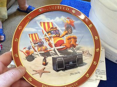 """Garfield Collector Plate """"Friends are Forever"""""""