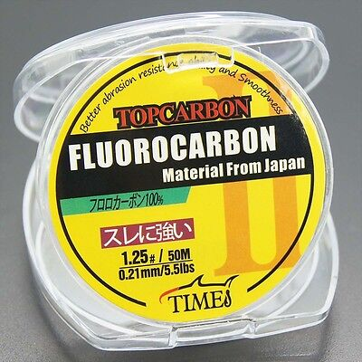 New! Fluorocarbon Fishing Line 5.5LB/50M Color Clear Material From Japan