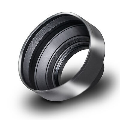 Phot-R 55mm Universal Collapsible Rubber Multi-Lens Hood for Wide Angle Lenses