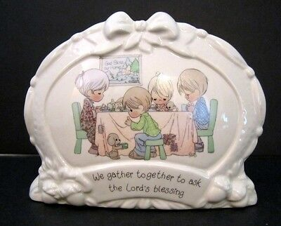 Precious Moments Napkin Holder WE GATHER TOGETHER 1995 - Thanksgiving - Holiday