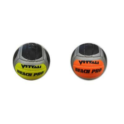 Beach Volleyball Vitalli in neon orange neon gelb ca. 17 cm Ball Bälle