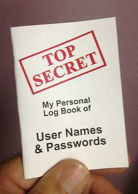 Top Secret Password Organizer Booklet