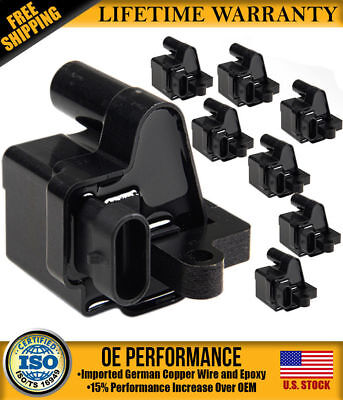 UF271 C1208 12558693 New Ignition Coil Pack of 8 for Chevy ... on