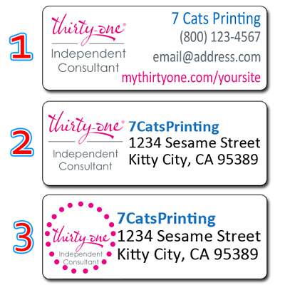 Thirty One Consultant Personalized Return Address Labels Custom Stickers