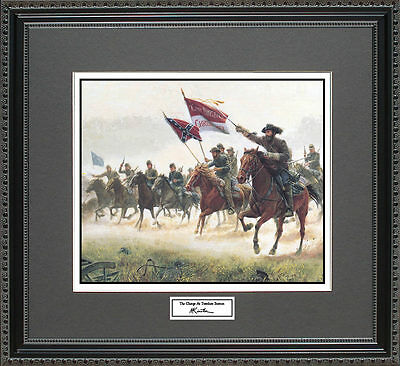 Mort Kunstler THE CHARGE AT TREVILIAN Framed Print Civil War Wall Art Gift