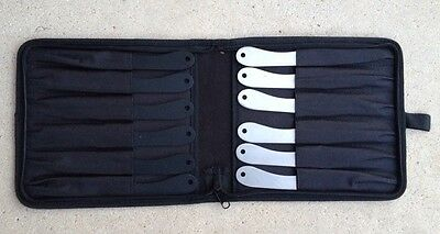 """12 PC PERFECT POINT 8"""" THROWING KNIFE SET w/ ZIPPERED CASE"""