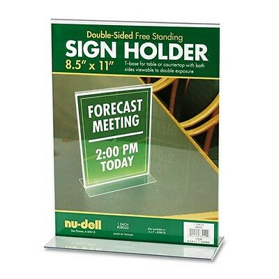 Brand New lot of 20 Double sided Clear Acrylic Plexi Sign Holder 8 1/2 x 11 in