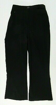 Girls Ladies School Uniform Sturdy Wide Fit Trousers Black Elasticated 2 16 Year