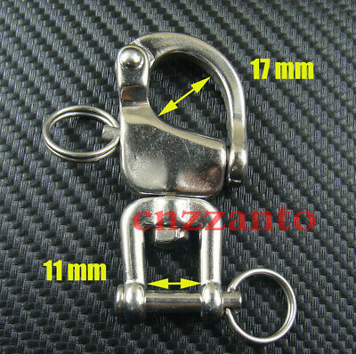 "Free shipping 2.7"" 316# Stainless steel swivel snap shackle sailing boat Yacht"
