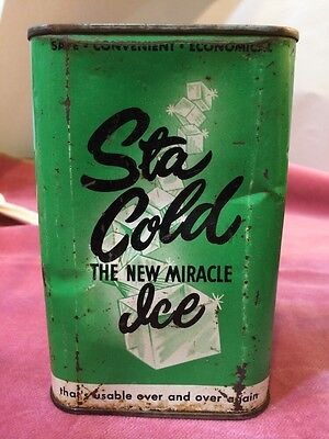 Antique Ice Pack, STA COLD The New Miracle Ice