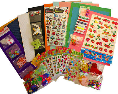 Children's Craft Kits Card Making Scrap Booking Project Over 200 Embellisments