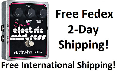 New Electro-Harmonix EHX Stereo Electric Mistress Flanger Chorus Guitar Pedal!!