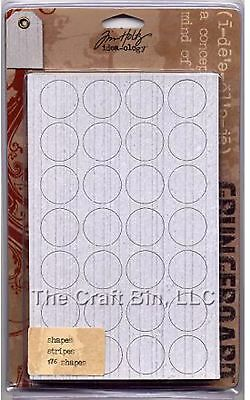 Tim Holtz - Idea-ology Grungeboard 176 Circle Square Rectangle Shapes Stripes