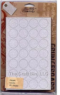 Tim Holtz - Idea-ology Grungeboard 176 Circle Square Rectangle Shapes Swirls