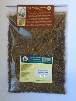 DRIED HERB VALERIAN ROOT Organic Valeriana officinalis Herbal Tea 100gm