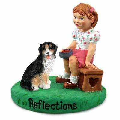 RGD61 Bernese Mountain Dog Reflections w/Girl Figurine