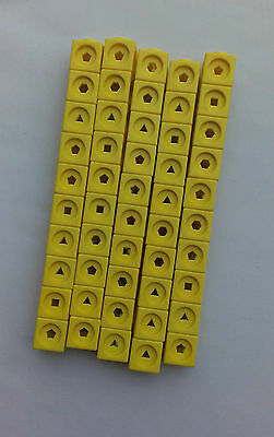 Maths Link Cubes (New Pack of 50 Yellow Counting Cubes)