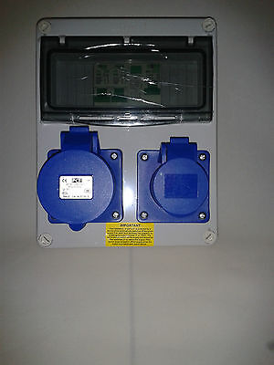 Caravan, Camping, Marine Hook Up, RCD Industrial Socket. 240V distribution board