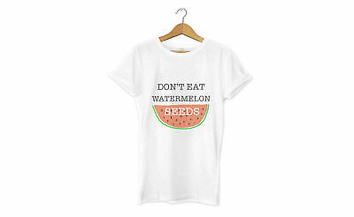 DON'T EAT WATERMELON SEEDS T Shirt Tee Top / Womens Mens Funny Pregnant Joke Fun