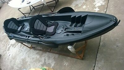 Tandem Sit On Top Kayak Canoe Galaxy Cruz Limited Edition Black/white