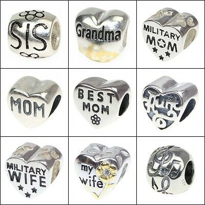 Authentic .925 Sterling Silver European Style Bead Charms Fashion Jewelry JHY.