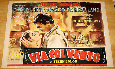 original title card movie poster GONE WITH THE WIND Clark Gable Vivien Leigh