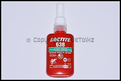 UK Loctite 638 50ml High Strength Retaining Compound Metal Shaft Adhesive Glue