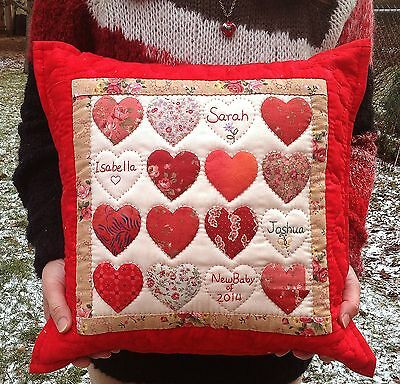 Love House Heart Pillow Case Finished Quilts House Warming Mom Birthdy Gift