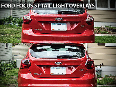 2013 Ford Focus ST / Focus Tail Light Overlay - 2014 Focus Blackout