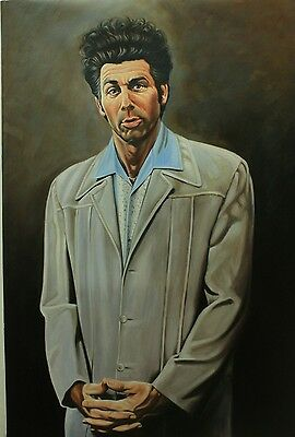 """24x36"""" Cosmo Kramer Seinfeld REAL oil painting on canvas, handmade not printed"""