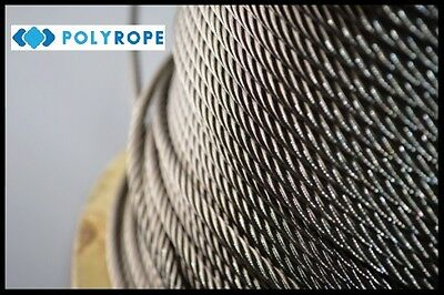 Galvanised wire rope cable metal rust resistant security 3mm 4mm 5mm 6mm quality