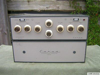 Vintage CARAD Stereo Tube pre and power amplifier, made in Belgium ! 10 tubes