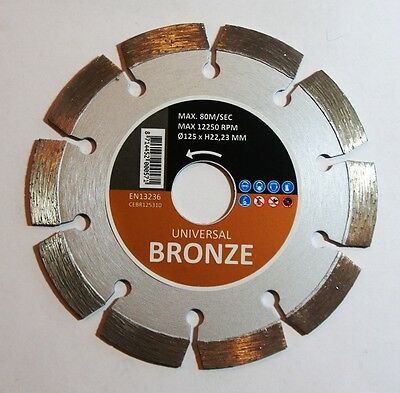 HITACHI  BRONZE - Universal Diamantscheibe Ø 125 X 22,2 mm