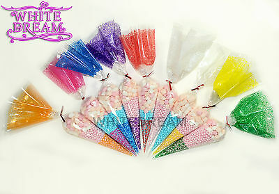 Cone Cellophane Bags | Large 18x37cm | Favour Sweet Party Display *TOP QUALITY*