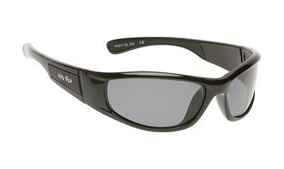 NEW Ugly Fish Polarised Sunglasses PK911 Kids, Black Frame Smoke Polarized Lens