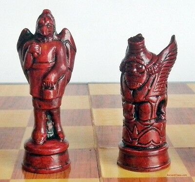 PERSIAN CHESS MEN - SET WITH CLASSIC ART OF ANCIENT IRAN (rosewood) 619