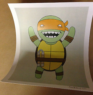 "Turtles"" Print By Isaac Bidwell Limited Edition # 11 of 50  8"" x 10"" Signed Numb"