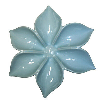 """Sasa 13"""" Blue Hand-Crafted Ceramic Wall Flower"""