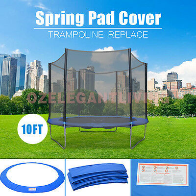 10ft REPLACEMENT REINFORCED OUTDOOR TRAMPOLINE SAFETY SPRING PAD COVER