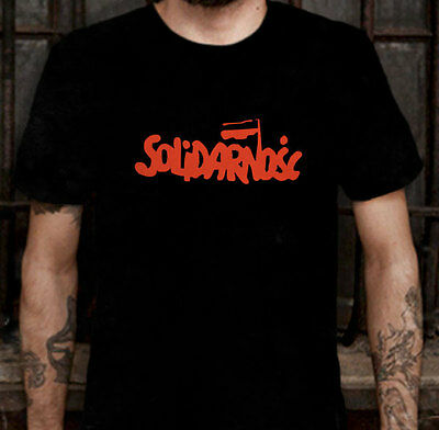 New Solidarnosc Poland Protest Solidarity 1980 T-shirt Tee Size L (S to 3XL av)
