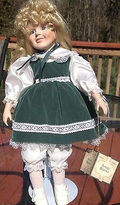 Antique Heritage Porcelain Doll by Anco Merchandise Co-1991-Great cond. w/ Tag