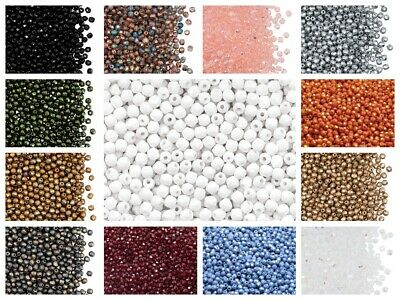 CHOOSE COLOR! 100pcs 3mm Fire-Polished Round Beads Czech Glass