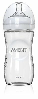 Philips AVENT 8 Ounce Natural Glass Bottle, 1-Pack, Baby Feeding BPA Free, New