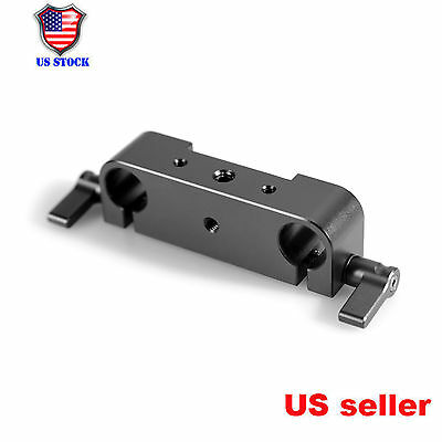 15mm Rod Clamp Railblock Block Adapter for 15mm Rod Support Rail System DSLR Rig