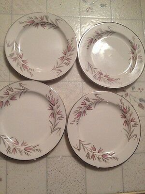 """Lot Of 4 Knowles Park Lane 6"""" Bread And Butter Plates"""