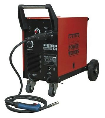 MIGHTYMIG170 Sealey Professional Gas/No-Gas MIG Welder 170Amp with Euro Torch